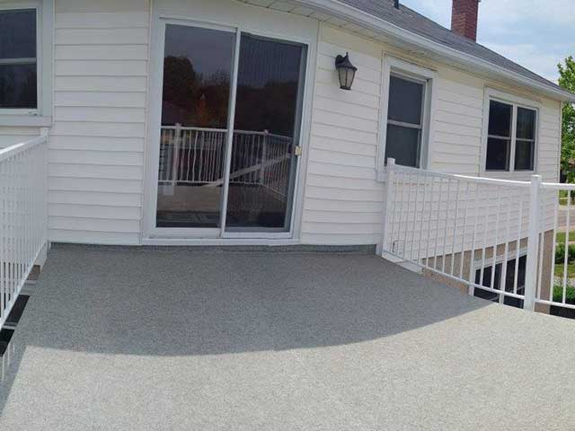 A leaky roof deck in Ontario repaired with Duradek