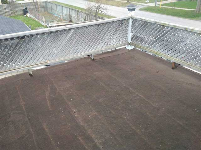 A leaky roof deck in Ontario