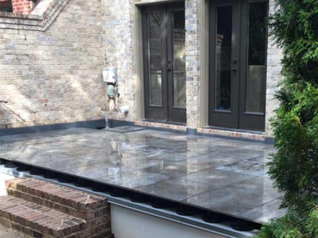 tile deck waterproofed below by Tiledek