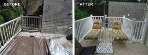 Roof Deck Before & After - Rehoboth Beach1