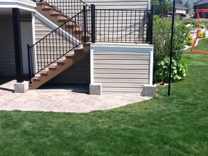 Creative Outdoor Storage Space Waterproofed with Duradek