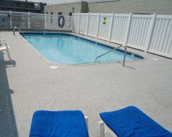 Pool Surround with Duradek Supreme Chip Granite Vinyl