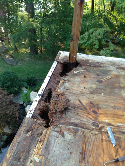 spring deck maintenance inspections can help avoid wood rot on a deck