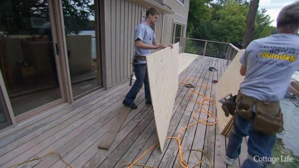 preparing a deck substrate for Duradek vinyl decking