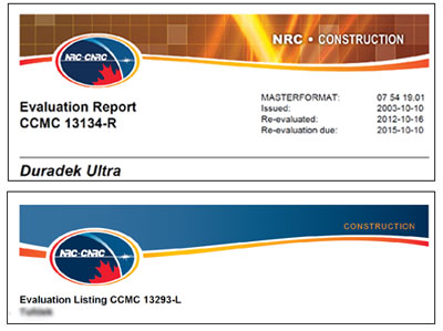 Comparing document headers for CCMC product listing and evaluation report.