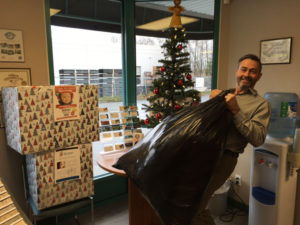 Donating to Coats for Kids in support of the Lower Mainland Christmas Bureau