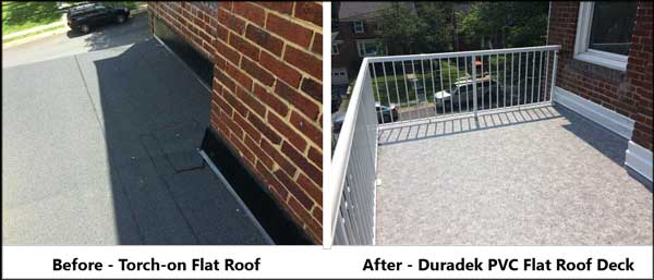 orchon-before-pvc-after flat roof deck