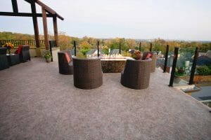 flat roof deck on single family home