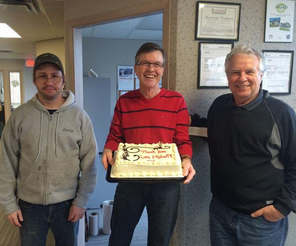 left to right: Robert from the warehouse, John Ogilvie - Duradek President, Len our Technical Manager