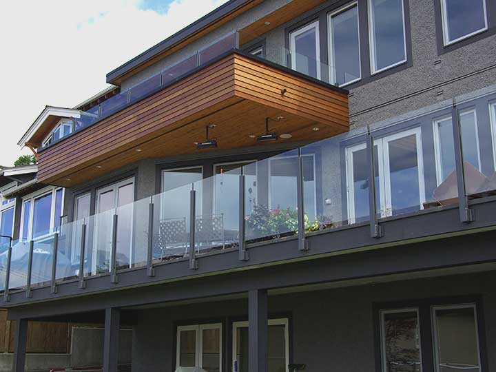deck balcony railing applications with durability durarail