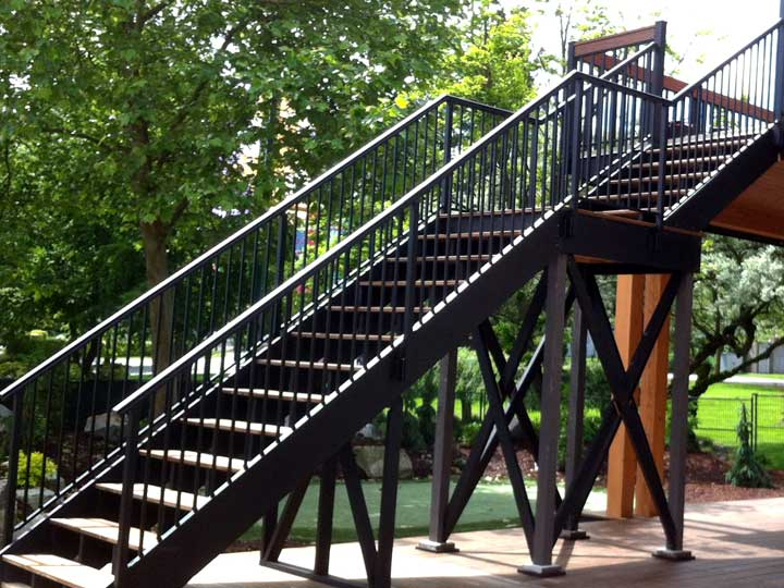 Adjustable Outdoor Stair Railings