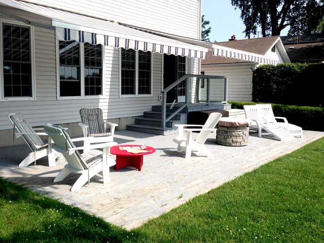 backyard patio transformation in lakeview on. Black Bedroom Furniture Sets. Home Design Ideas