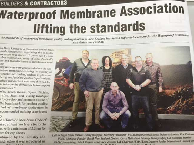 newspaper clipping - Auckland, New Zealand Waterproof Membrane Association