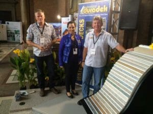 Duradek vinyl decking represented at the Auckland, NZ Home Show