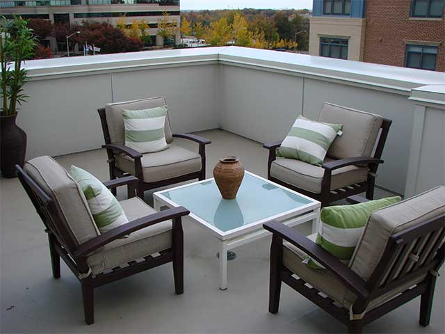 Roof Deck with Duradek vinyl in autumn