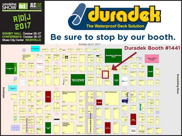 Duradek booth at Deck Expo