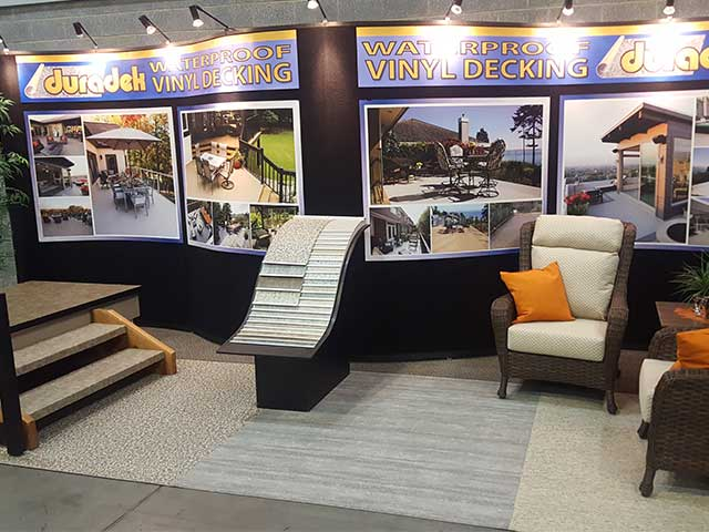 Duradek booth #122 at the Vancouver Fall Home Show