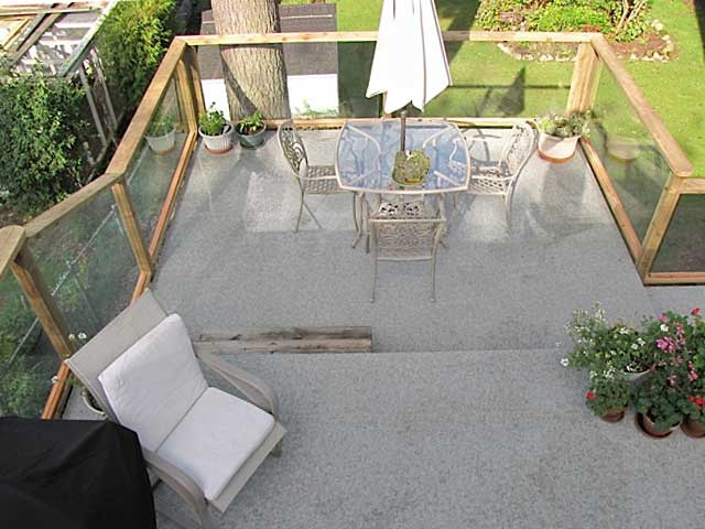 Painted sundeck renovation now waterproof with duradek for Sundecks designs