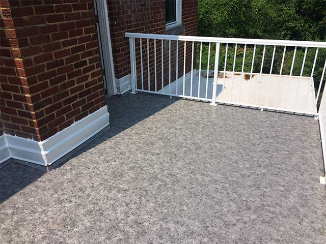 Flat roof transformation from Duradek creates usable space