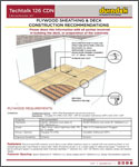 Duradek Techtalk 126 CDN - Substrate Preparation for Plywood