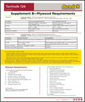 Duradek Techtalk 126 Supplement - Plywood Requirements