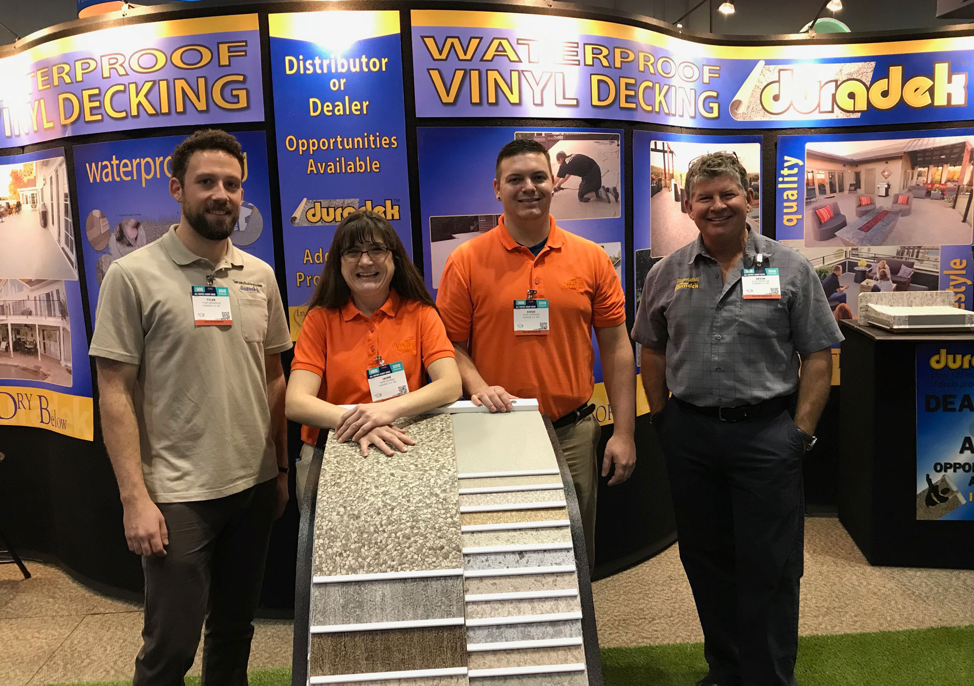 The Duradek sales team at IBS 2018