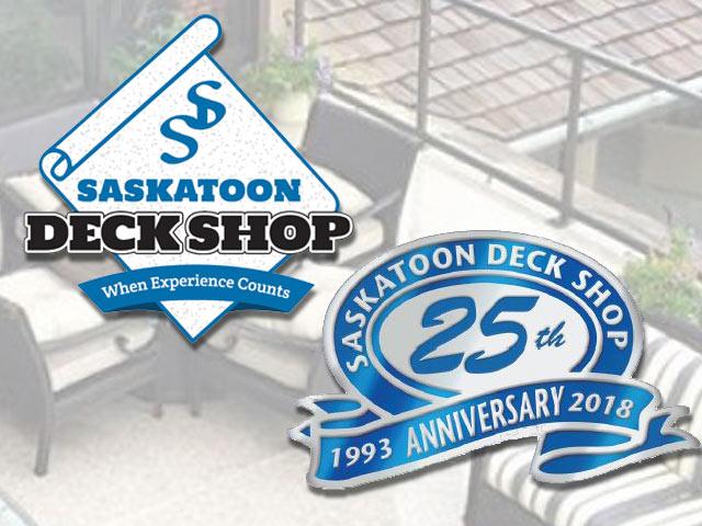 Saskatchewan Deck Experts - Saskatoon Deck Shop 25th Anniversary Representing Duradek vinyl Decking