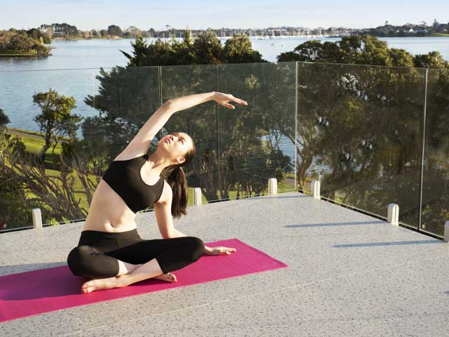 Arrival of Duradek in New Zealand suites the value of quality lifestyle - yoga on deck