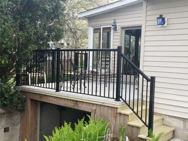 Porch over garage waterproofed with Duradek