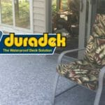 Porch renovation with Duradek Forest Floor Ash