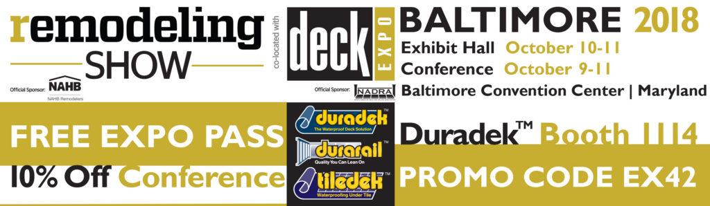Remodeling Show Deck Expo Free Registration Invitation from Duradek