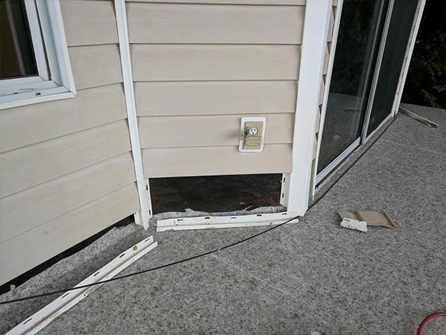 Donate-A-Deck Winning Deck - The inside perimeter during Duradek installation