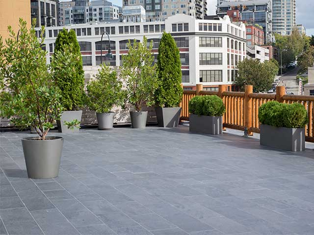 Edgewater Hotel Seattle New Rooftop Patio with Tile Surface waterproofed with Tiledek