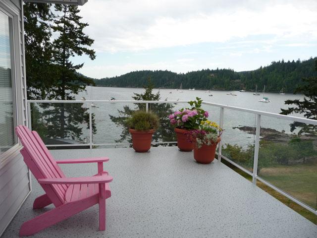 Coastal deck under constant exposure to elements