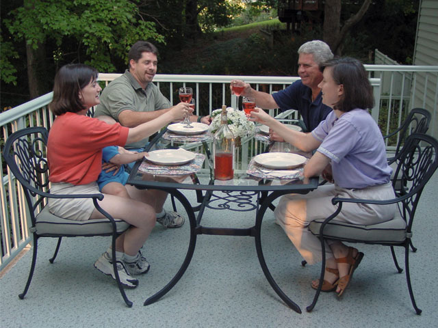 Dinner party on the patio