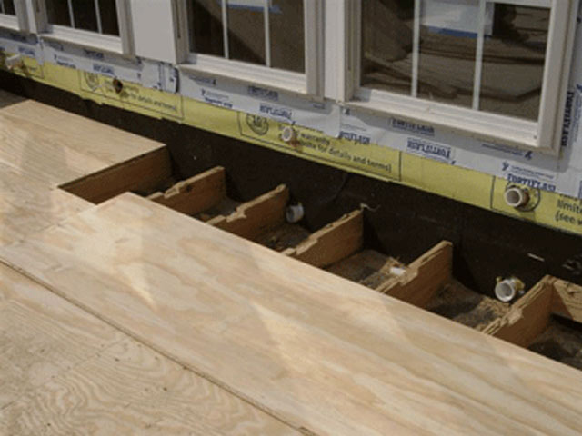 plywood and joists