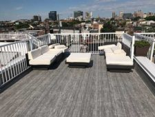 Extended Roof Deck - After Duradek Driftwood Vinyl Membrane to Create More Outdoor Living Space