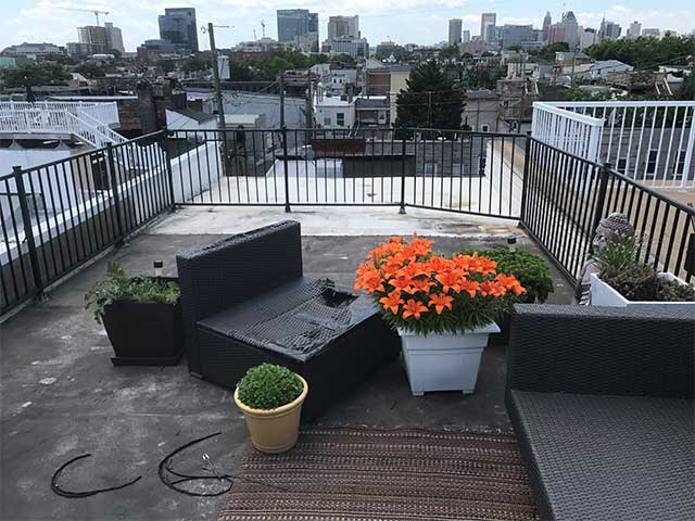 Unattractive Roof Deck with Wasted Space