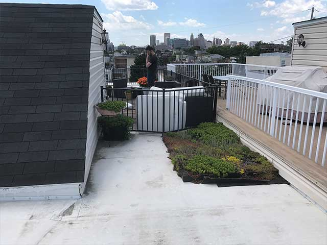 Unattractive Roof Deck with Wasted Space - Before Duradek Installation