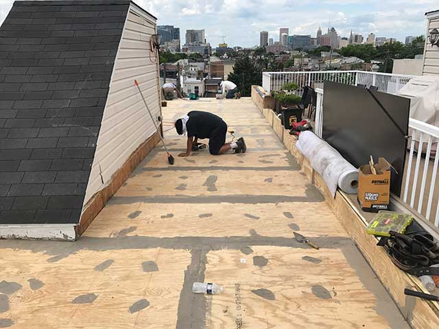 Extended Roof Deck Substrate Preparation for Duradek Vinyl Membrane