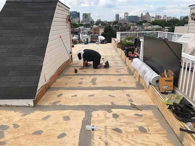 Extended Roof Deck Substrate Preparation for Duradek Vinyl Membrane