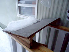 custom snow slide to protect stairs