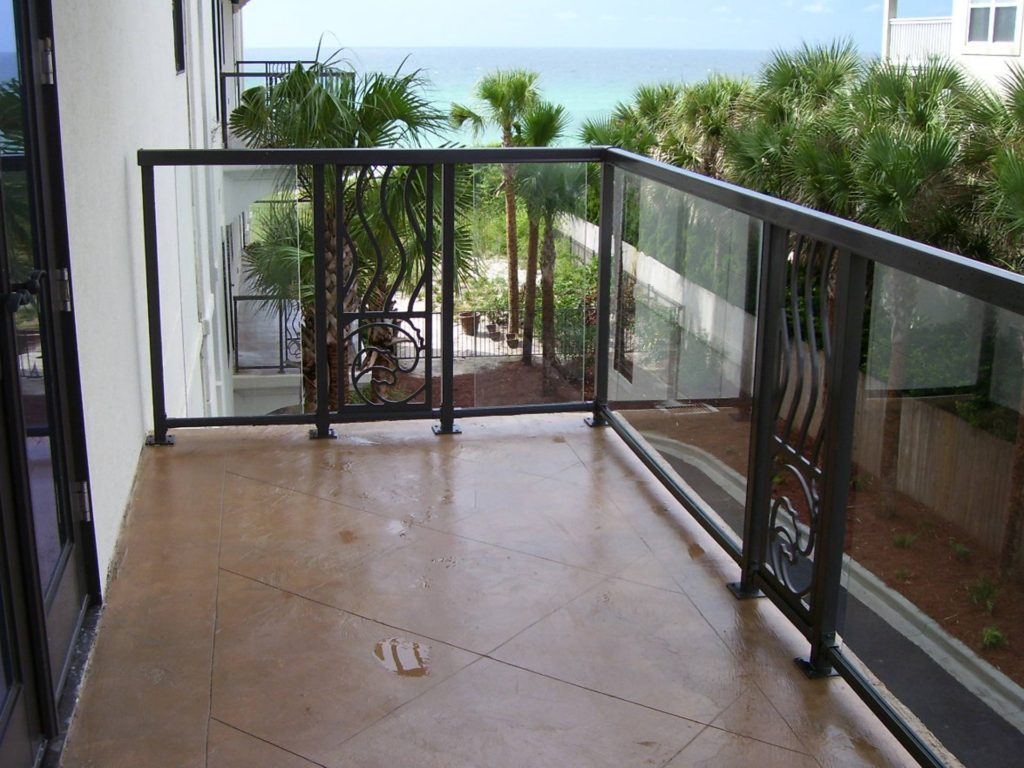 Durarail Custom Glass Railing - with aluminum design accents
