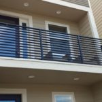 Durarail Custom Picket Railing - Horizontal Bar System on Balcony