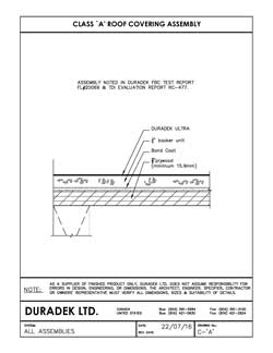 Duradek Detail Drawing C-A for Fire Rated Assembly on Vinyl Decks