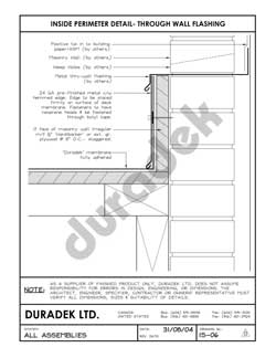Duradek Detail Drawing IS-06 for Inside Perimeter on Vinyl Decks