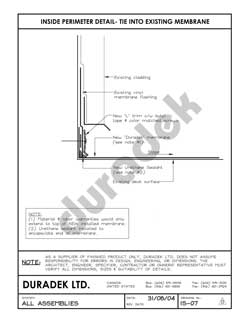 Duradek Detail Drawing IS-07 for Inside Perimeter on Vinyl Decks