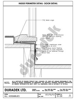 Duradek Detail Drawing IS-09 for Inside Perimeter on Decks