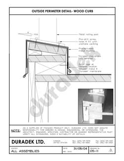 Duradek Detail Drawing OS-11 for Outside Perimeter on Vinyl Decks