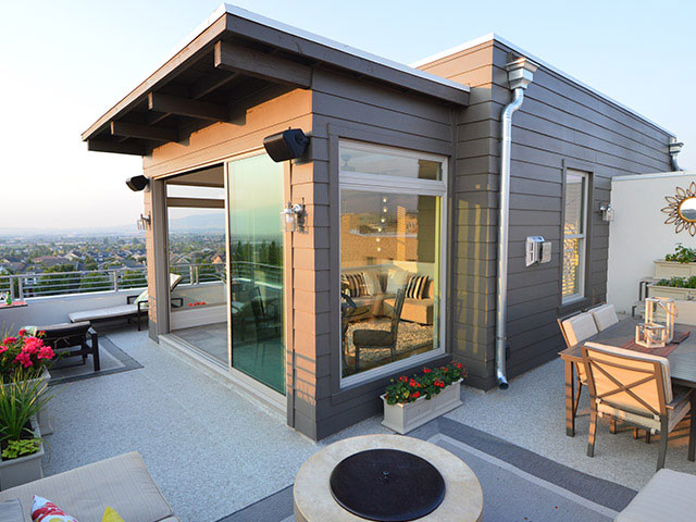 New Home Roof Deck by Sego Homes & Duradek of Utah